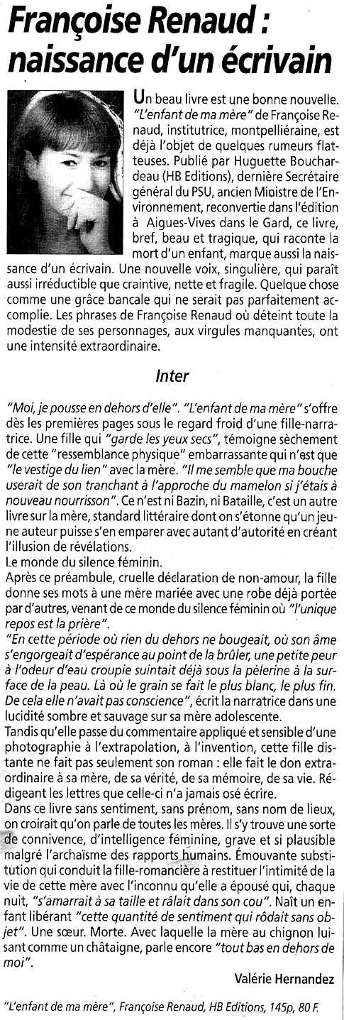 La Gazette de Montpellier, décembre 1997
