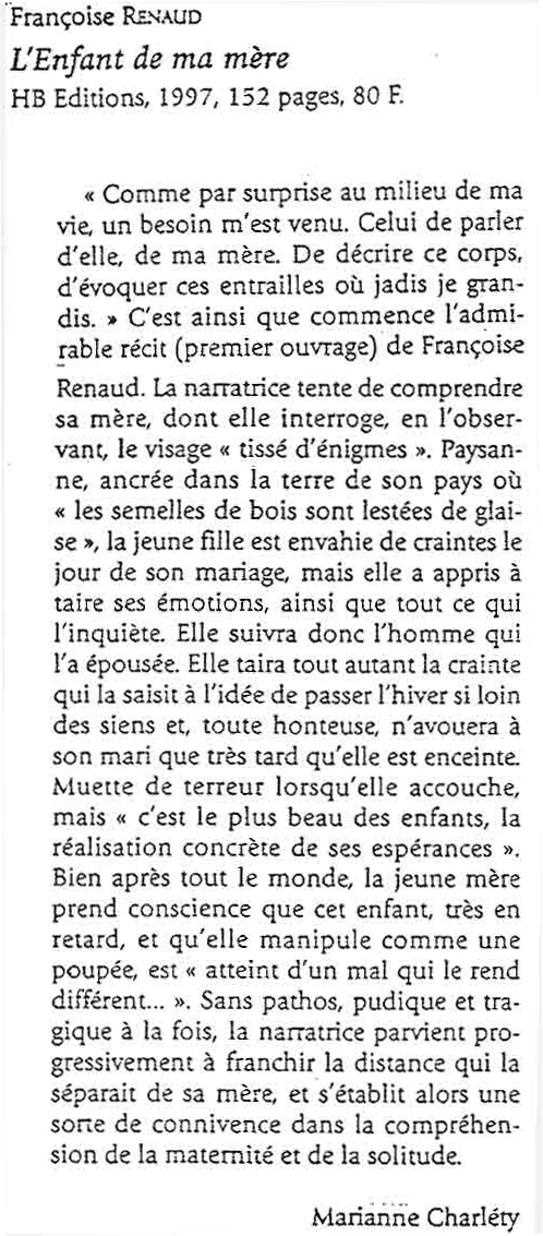 Revue Etudes, mai 1998