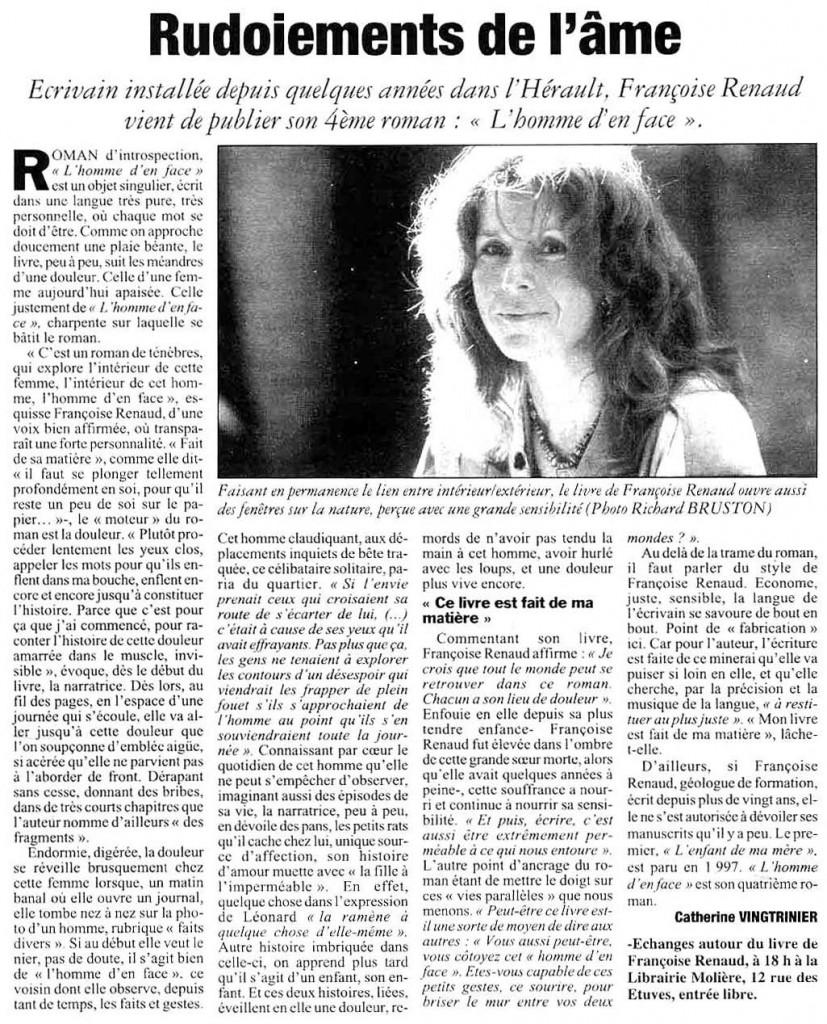 l'Hérault du Jour, fev 2002