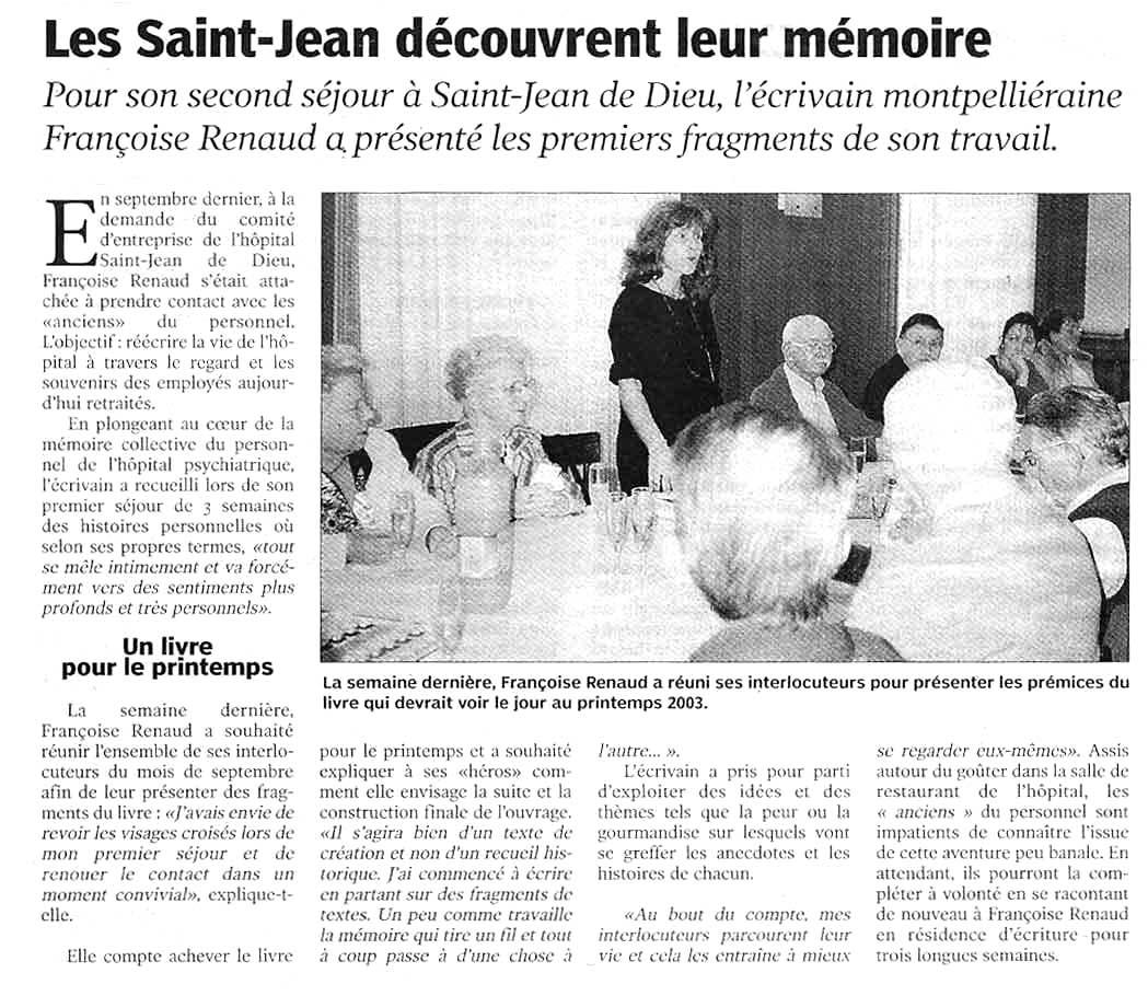 Le Le Petit Bleu, novembre 2002