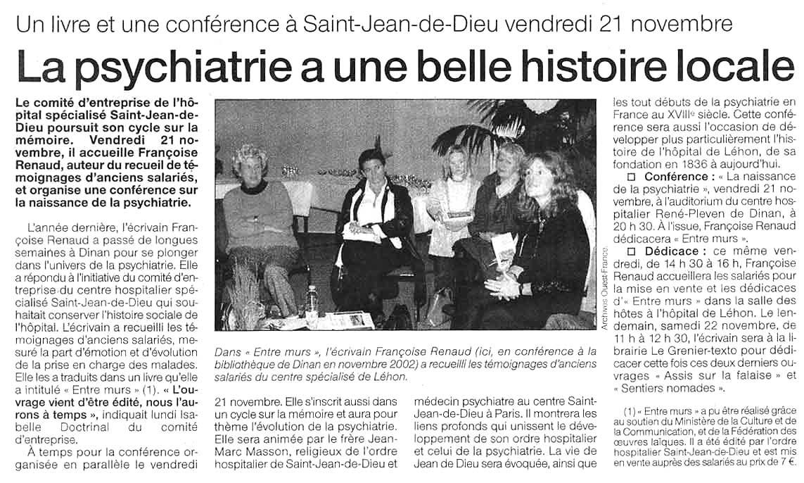 Ouest-France, nov 2003
