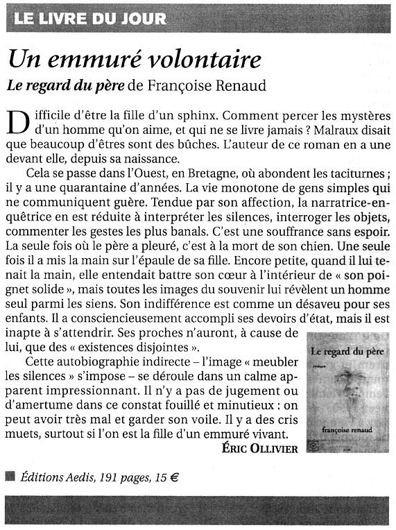 Le Figaro Littéraire, juillet 2006