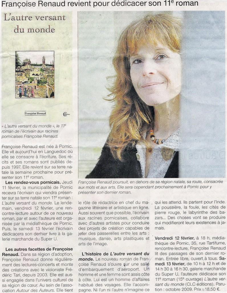 Ouest France, février 2010