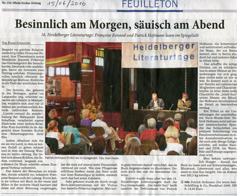 salon d'Heidelberg, juin 2010