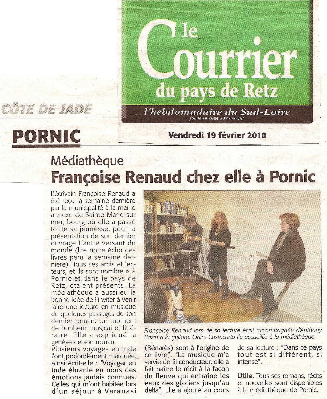 Le Courrier du Pays de Retz, février 2010