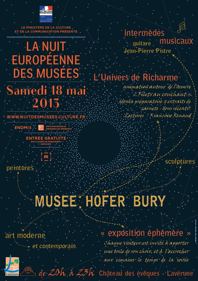 affiche Nuit des Musées, 18 mai 2013