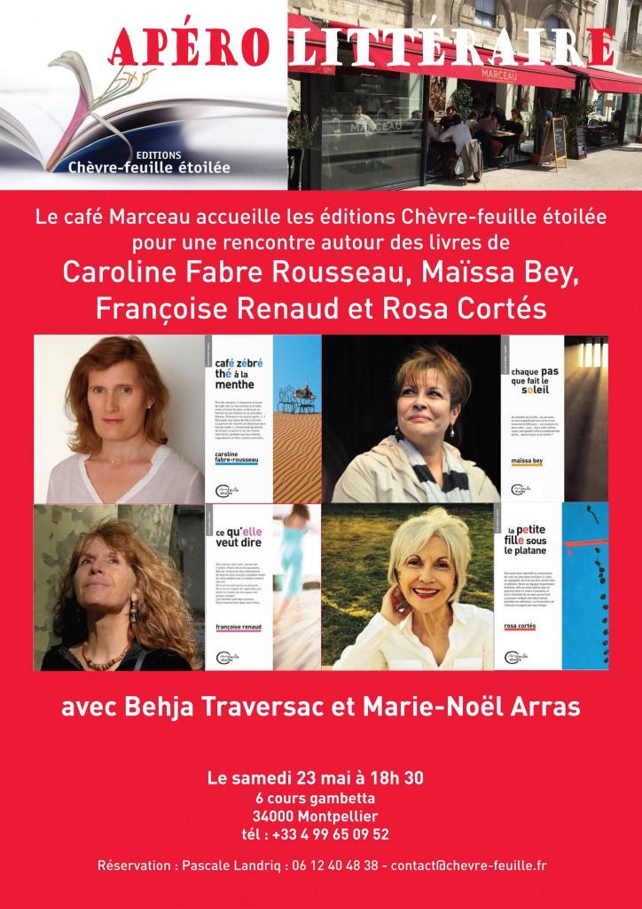 café littéraire du 23 mai 2015, Montpellier
