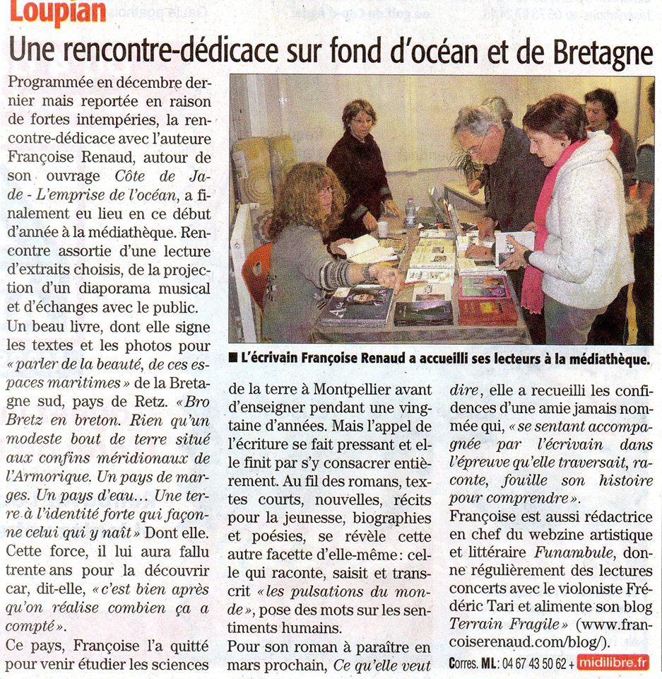 MIDI LIBRE, Sète / étang de THAU, 3 mars 2015