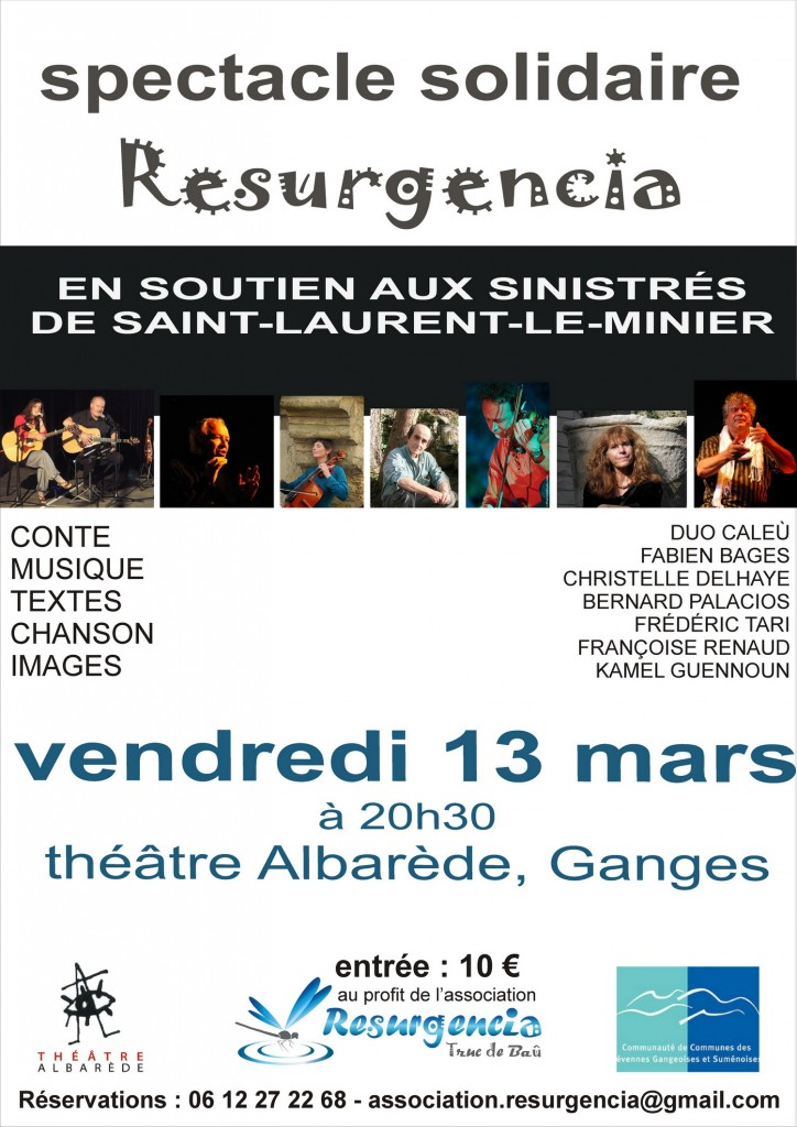 spectacle solidaire RESURGENCIA 13 mars 2015
