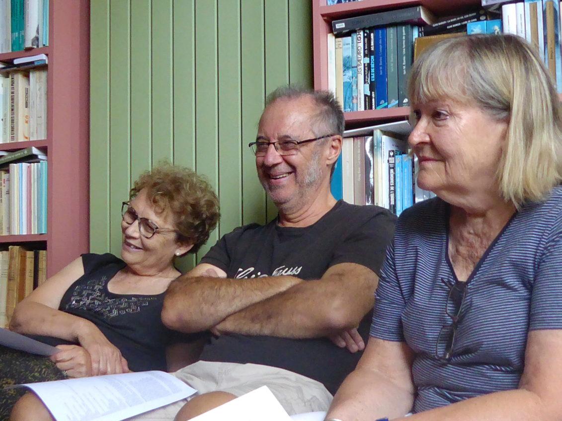 Un corps pour porter un texte, atelier avec mes amis écrivains,18 septembre 2019