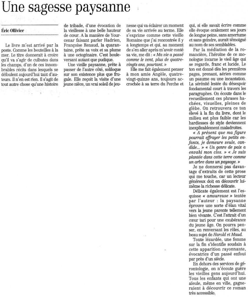 Le Figaro Littéraire, 2000