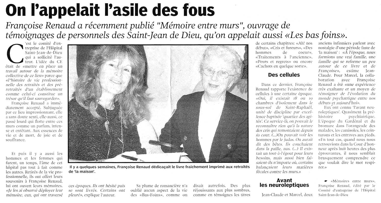 Le Petit Bleu, janv 2004