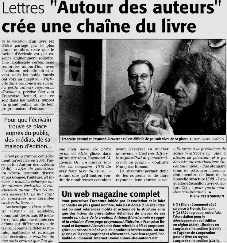 Midi Libre, avril 2008