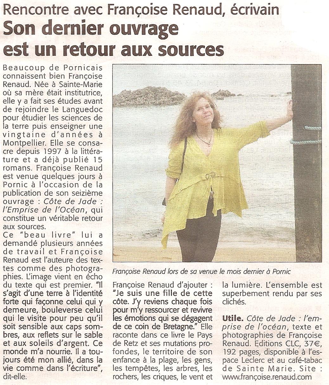 Le Courrier du Pays de Retz, 15 août 2014