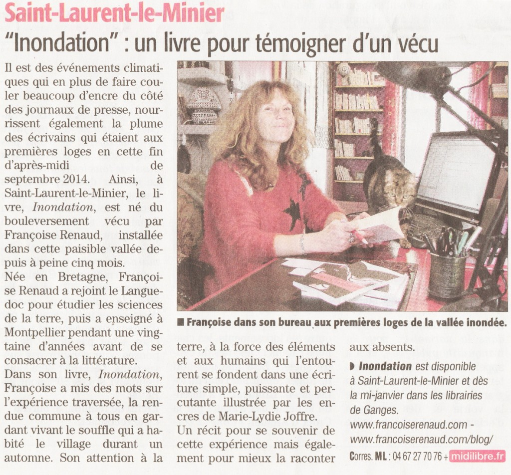 Midi Libre, le 9 janvier 2015