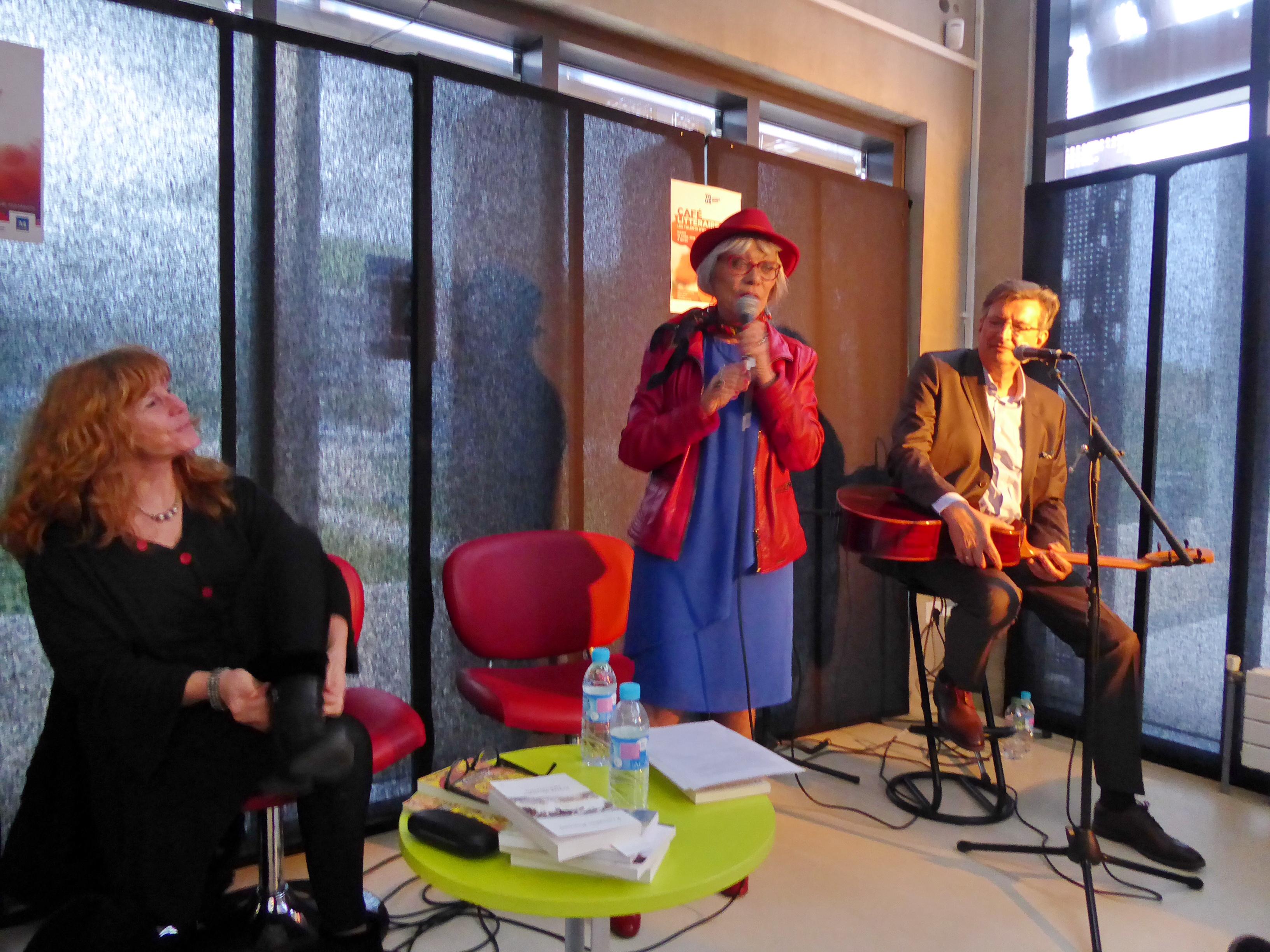 Café littéraire, Montpellier, 10 avril 2018